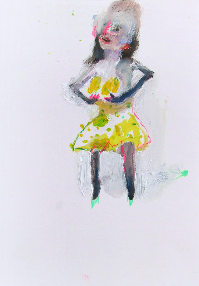 Bel Fullana – FREE MELONS. Oil and pen on paper. 29'7 x 21cm. 2012