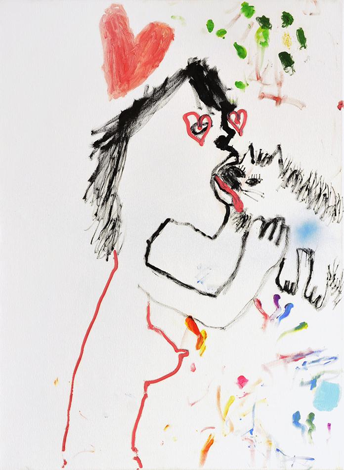 Bel Fullana – TARZANA BESOS DE AMOR. Oil on canvas. 100 x 73 cm. 2018