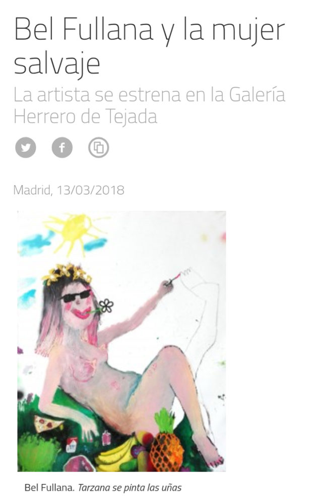Bel Fullana – Tarzana's exhibition in MASDEARTE!! :)