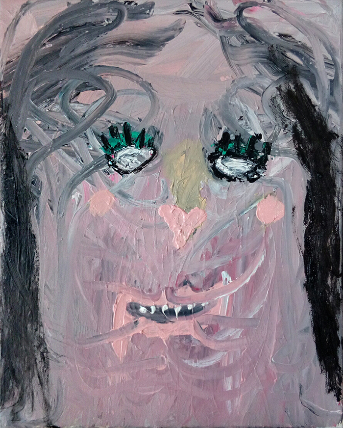 Bel Fullana – MAKE-UP BEAST. Oil on canvas. 41 x 33 cm. 2017