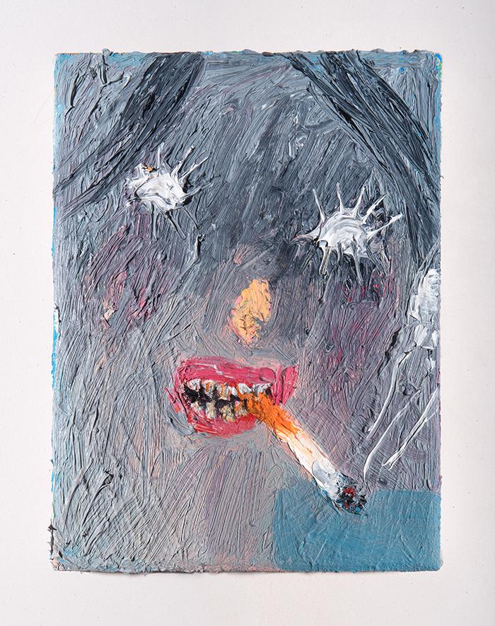 Bel Fullana – EL AMANECER DE YLENIA. Oil on canvas. 22 x 16 cm. 2018