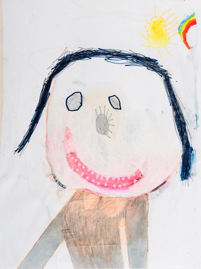 Bel Fullana – PELITOS EN LA NARÍZ. Marker pen, pencil and collage on paper. 28'3 x 21 cm. 2015