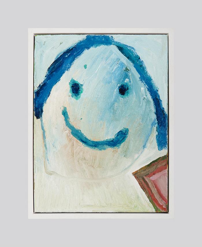 Bel Fullana – SWEETY BLUE POTATO. Oil on canvas. 40 x 30 cm. 2016