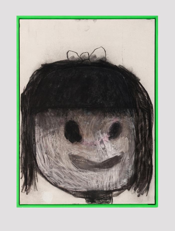 Bel Fullana – NIÑA TÓXICA. Acrylic, charcoal and spray on canvas. 100 x 73 cm. 2015
