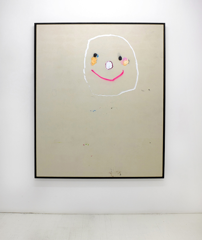 Bel Fullana – MR. POTATO POKER FACE. Oil and spray on canvas. 162 x 130 cm. 2014