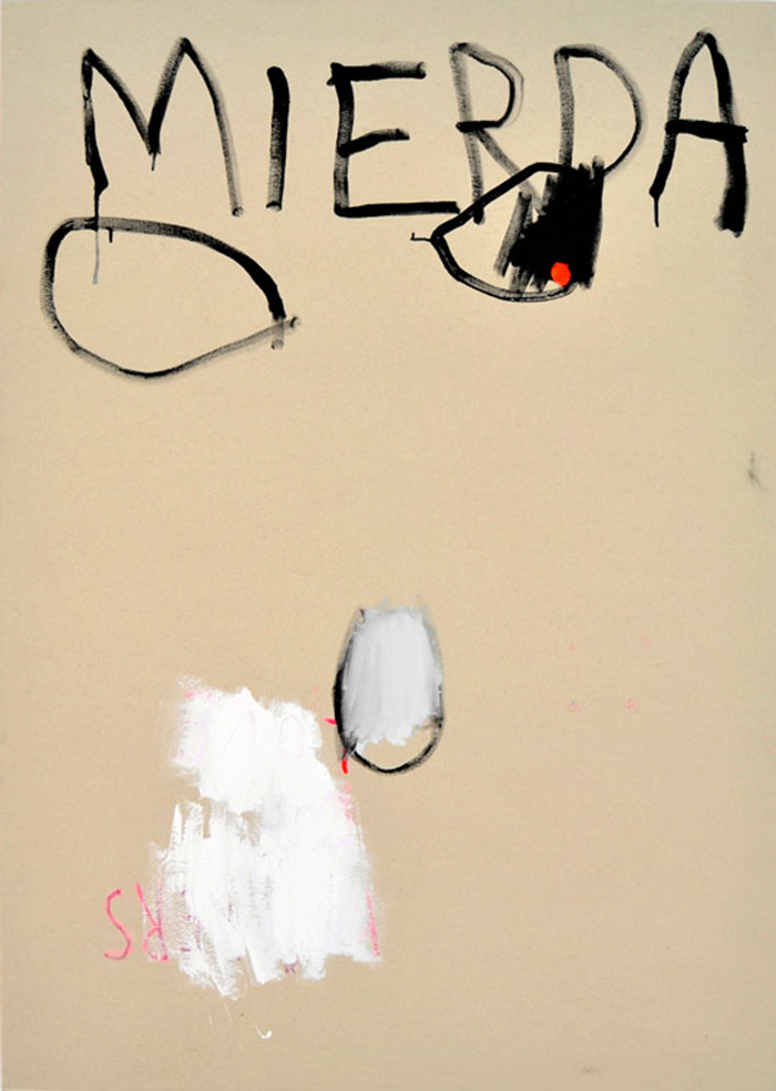 Bel Fullana – MIERDA. Acrylic on canvas. 162 x 114cm. 2013
