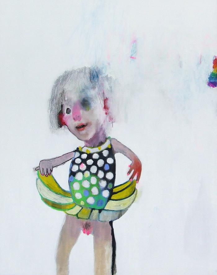 Bel Fullana – HAVANA. Oil, charcoal and wax crayons on canvas. 146x114cm. 2012