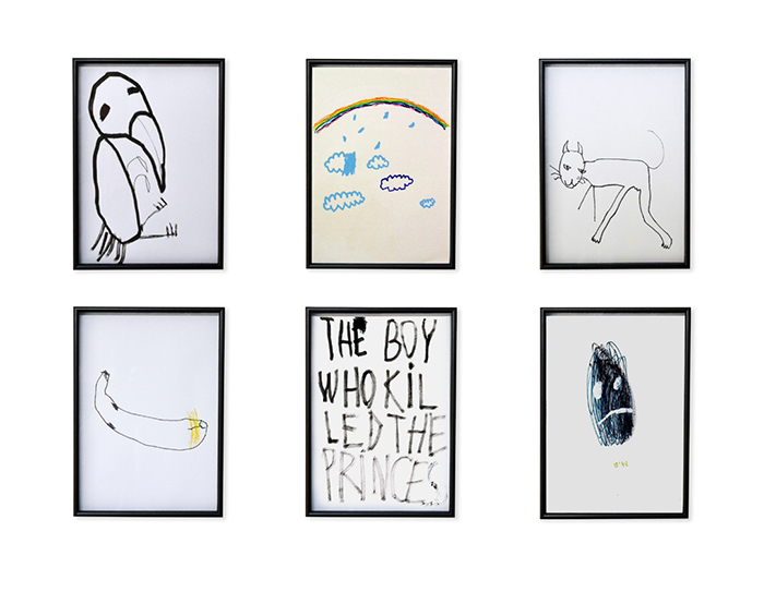 Bel Fullana – ONE MINUTE DRAWINGS (selection). Pen and marker pen on paper. 29'7 x 21 cm each. 2013