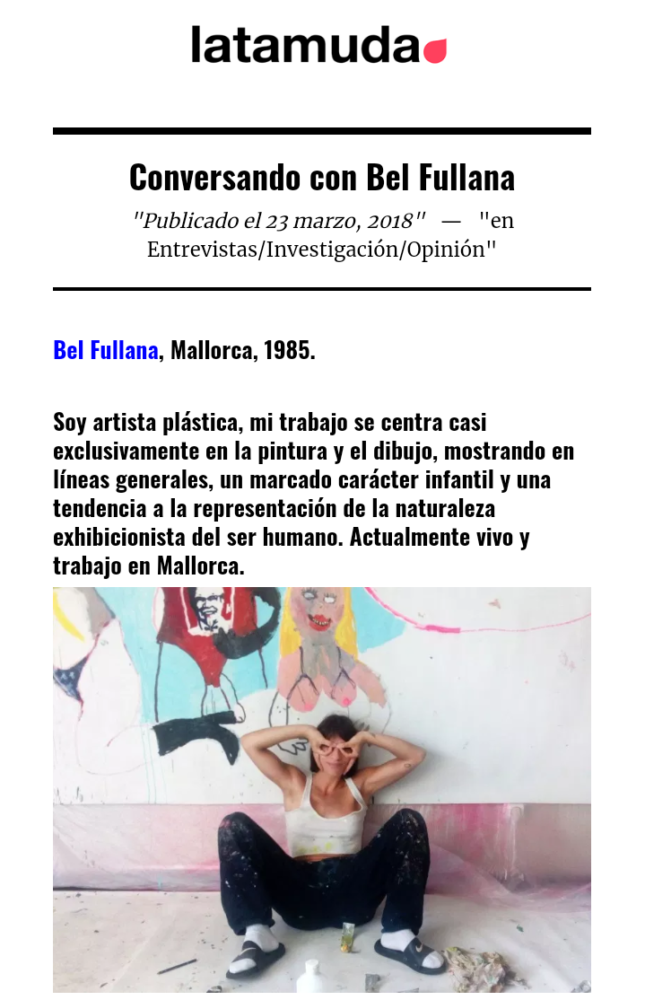 Bel Fullana – Interview in latamuda